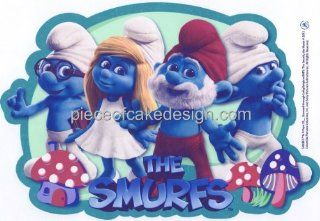 "2"" Round ~ The Smurfs Movie Birthday ~ Edible Image Cake/Cupcake Topper!!! : Dessert Decorating Cake Toppers : Grocery & Gourmet Food"