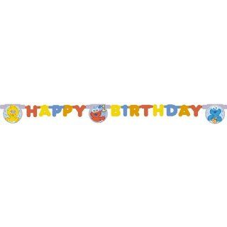 Sesame Street Beginnings Happy 1st Birthday Party Banner: Toys & Games