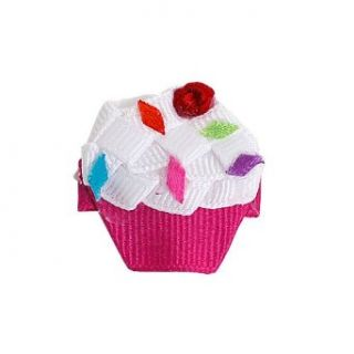 Girls Cute Small Pink Cupcake Sprinkles Clippie: Beyond Creations: Clothing