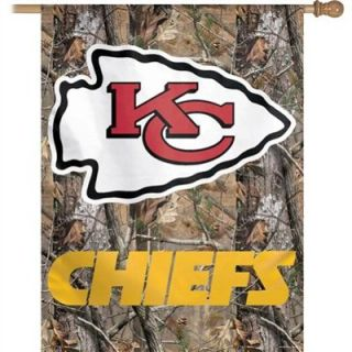 WinCraft Kansas City Chiefs 27x 37 Realtree Camo Vertical Flag