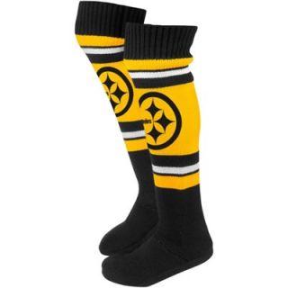 Pittsburgh Steelers Ladies Knit Knee Slipper Socks   Gold/Black