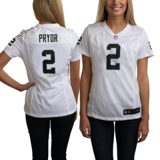 Nike Terrelle Pryor Oakland Raiders Womens Game Jersey   White