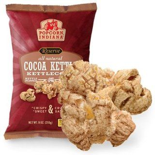 Popcorn Indiana, Popcorn Kettle Cocoa, 9 OZ (Pack of 12) : Grocery & Gourmet Food