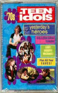 Yesterday's Heroes ~ 70's Teen Idols (Original 1993 Rhino Records CASSETTE Tape NEW FACTORY SEALED in the Original Shrinkwrap Containing 14 Tracks Featuring Bobby Sherman, Jack Wild, Davy Jones, Brady Bunch, Rick Springfield, Michael Jackson, DeFra