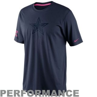 Nike Dallas Cowboys Breast Cancer Awarness Legend Performance T Shirt   Navy Blue