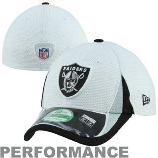 New Era Oakland Raiders Youth 39THIRTY 2013 Training Performance Flex Hat   White