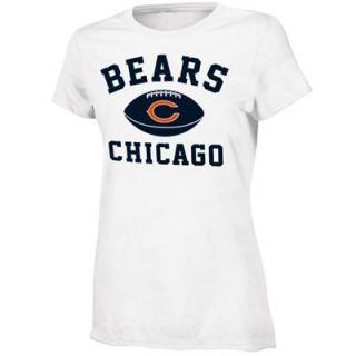 Chicago Bears Youth Girls Standard Issue T Shirt   White