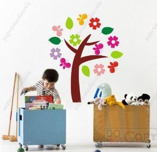 Custom PopDecals   My little flower tree (8 different s)   57 in high   Beautiful Tree Wall Decals for Kids Rooms Teen Girls Boys Wallpaper Murals Sticker Wall Stickers Nursery Decor Nursery Decals   Nursery Decor Products