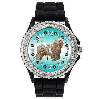 Bergamasco Dog Crystal Rhinestone Jelly Silicone Wrist Watch at  Men's Watch store.
