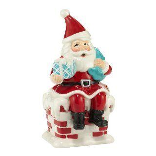 SANTA CLAUS ceramic Figurine Dept 56 Christmas NEW Retro Holiday Home Decor   Collectible Figurines