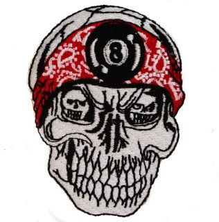 8 EIGHT BALL DO RAG SKULL 3 inch Iron or Sew on BIKER Patch: