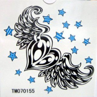 Heart Fly Wing Star Tattoo Stickers Temporary Tattoos Fake Tattoos (Paste Neck / Shoulder / Chest / Hand /, Etc.) Fashion Models Single Noble Alternative Avant garde Barcode 5pcs/lot Beauty