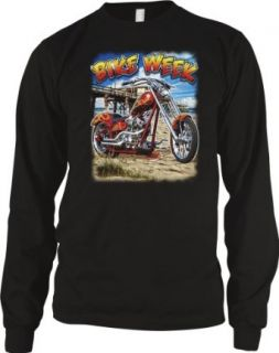 Bike Week Motorcycle Mens Biker Thermal Shirt, Chopper On The Bay Design Men's Thermal Clothing