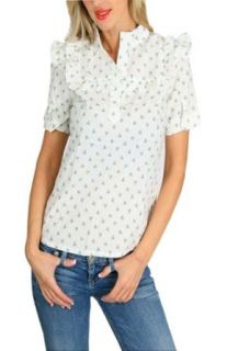 Everyone Loves A Country Girl Blue Floral Blouse