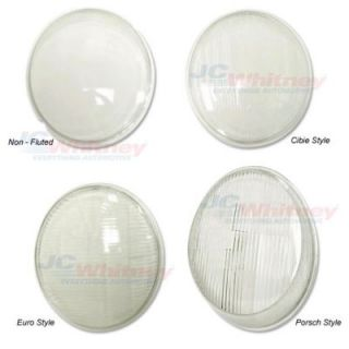 1958 1966 Volkswagen Beetle Headlight Lens   EMPI, Direct fit, Clear, Glass