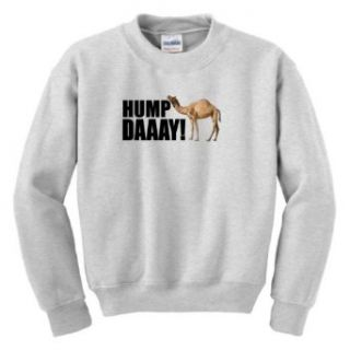 Hump Day Camel Wednesday Youth Crewneck Sweatshirt: Clothing