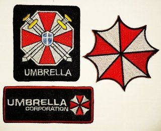 3 Pcs. Resident Evil Umbrella Corporation Gestickte Patches Sew/iron on Patch to Cloth, Jacket, Jean, Cap, T shirt and Etc.