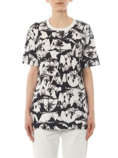 X Natasha Khan palm print T shirt  Ymc
