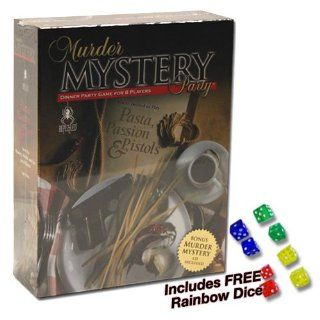Murder Mystery Party   Pasta, Passion and Pistols Plus FREE Rainbow Dice Toys & Games