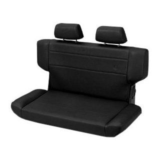 Bestop� 39435 15 TrailMax II Fold and Tumble Black Denim All Vinyl Rear Bench Seat for 97 06 Wrangler TJ (except Unlimited): Automotive