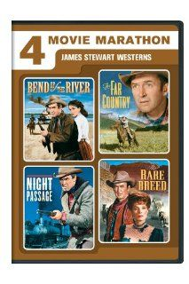 4 Movie Marathon: James Stewart Western Collection (Bend of the River / The Far Country / Night Passage / The Rare Breed): James Stewart, Rock Hudson, John McIntire, Audie Murphy, Maureen O'Hara, Julia Adams, Walter Brennan, Dan Duryea, Brian Keith, Ar