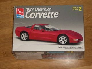 AMT ERTL 1997 Chevrolet Corvette 1/25 Model Kit #8327 Skill Level 2 (Fifth generation, front engine rear wheel drive coupe) Over 100 parts, full color decals. Toys & Games