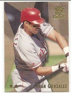 Juan Gonzalez 1999 Topps Stars Two Stars Texas Rangers Card #17