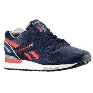 Reebok GL 6000   Mens   Running   Shoes   Navy/Stadium Red/Tin Grey/White/Silver