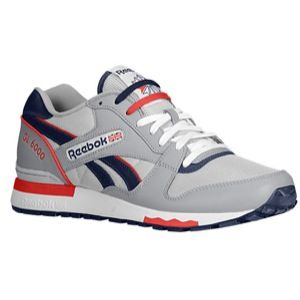 Reebok GL 6000   Mens   Running   Shoes   Tin Grey/Steel/Navy/Stadium Red/White