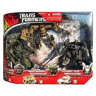 Transformers Movie 3 Pack, Autobot Jazz, Bonecrusher, Deception Brawl: Toys & Games