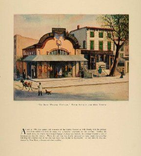 1924 Print Ye Olde Willow Cottage Fifth Avenue 44th St.   Original Print