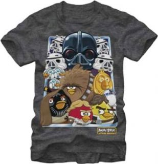 Fifth Sun Men's Oldschool Nest Angry Bird Star Wars T Shirt Clothing