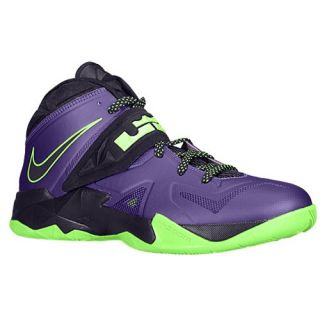 Nike Zoom Soldier VII   Mens   Basketball   Shoes   Court Purple/Flash Lime/Blueprint