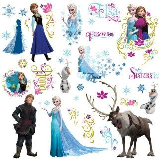 RoomMates RMK2361SCS Frozen Peel and Stick Wall Decals, 36 Count   Decorative Wall Appliques