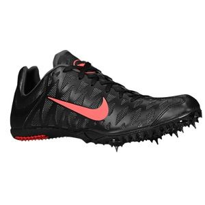 Nike Zoom Maxcat 4   Mens   Track & Field   Shoes   Black/Dark Charcoal/Atomic Red