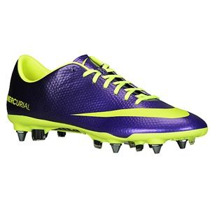 Nike Mercurial Vapor IX SG Pro   Mens   Soccer   Shoes   Electro Purple/Black/Volt
