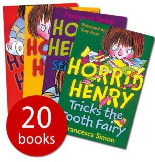 Horrid Henry Box set: 20 books: (Horrid Henry / Secret Club / Horrid Henry's Nits / Tricks the Tooth Fairy / Gets Rich Quick / Haunted House / Mummy's Curse / Revenge / bogey Babysitter / Stink bomb / Underpants / Meets the Queen / Mega Mean Time M