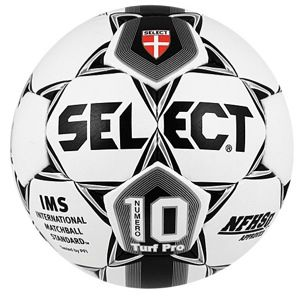 Select Numero 10 Turf Pro Soccer Ball   Soccer   Sport Equipment   White/Black/Silver