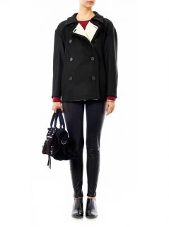 Fleece lined wool peacoat  Derek Lam