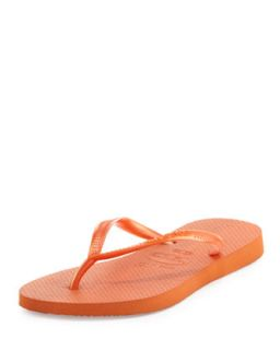 Slim Metallic Flip Flop, Neon Orange   Havaianas   Orange (35/36)