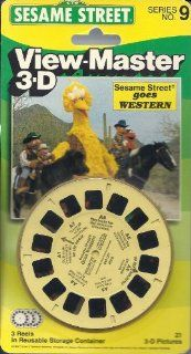 Sesame Street Goes Western 3d View Master 3 Reel Set Toys & Games