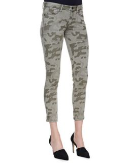 Womens Cropped Camo Skinny Jeans   Cut25 by Yigal Azrouel   Army grn multi (27)