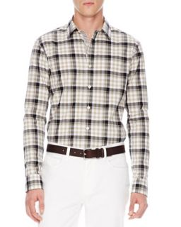 Mens Ryan Check Shirt   Michael Kors   Chino (X LARGE)