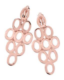 Rose Gold Open Cascade Clip On Earrings   Ippolita   Rose