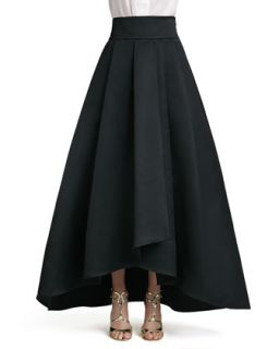 Womens Duchesse Origami Ruffle Gown Skirt   St. John Collection   Caviar (6)