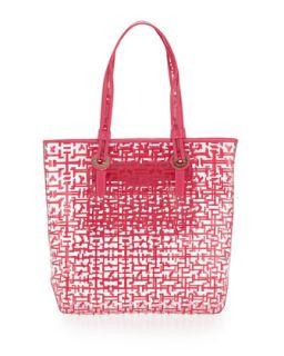 Molly Logo Maze Print Tote Bag, Pink Maze   Elaine Turner