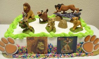 Lion King 13 Piece Birthday Cake Topper Set Featuring Mufassa, Zazu, Pumbaa, Scar, Timon, Nala, Simba and Decorative Lion King Cake Pieces: Toys & Games