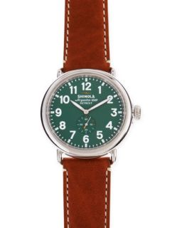 47mm Runwell Mens Watch, Green/Brown   Shinola   Green (47mm ,7mm )
