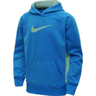 NIKE Girls KO 2.0 Pullover Hoodie   Size Small, Blue Hero/green