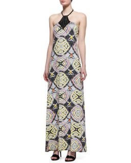 Womens Sodella Printed Jersey Maxi Dress   Karina Grimaldi   Tiger eye (X